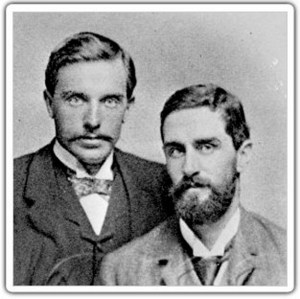 Roger Casement (right) with friend, sculptor Henry Ward. Wikimedia.org