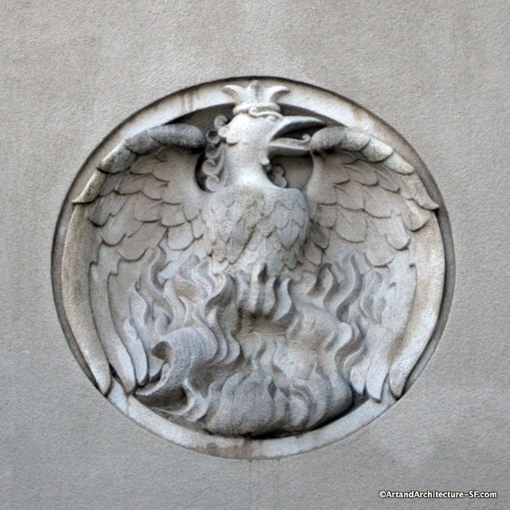 The Phoenix by Robert Howard, at Coit Tower. Photo: artandarchitecture-sf.org