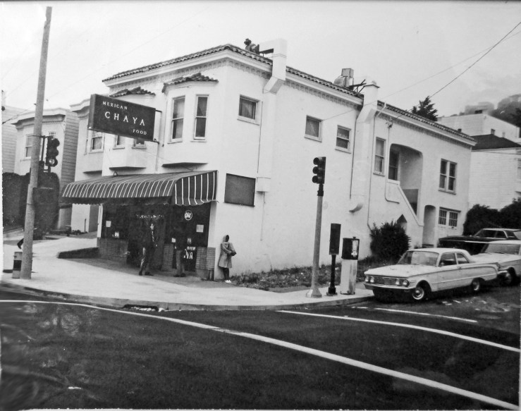 1968. 700 Monterey Blvd. Chaya Mexican Restaurant, which had only a brief stay. Before this: Johnny's Quality Donuts and La Roma Pizzeria. After this: Emmy's Big Bakery, later Emmy's Restaurant. Notice that upper floor is still an apartment, and rear yard has not yet been built over (current restaurant uses upper floor and addition as dining area). San Francisco Office of Assessor-Recorder Photographs Collection, San Francisco History Center, San Francisco Public Library sfpl.org/sfphotos/asr