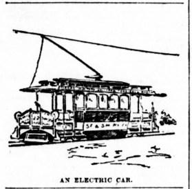 Electric Streetcar, SF Examiner, 27 Apr 1892.