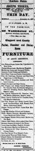 A list of the furnishing of Pleasant's boarding house at 920 Washington, up for auction. Daily Alta, 10 Nov 1873.