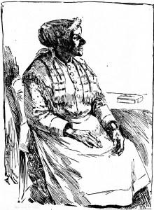 Drawing of Mary Ellen Pleasant, SF Examiner, 13 Oct 1895.