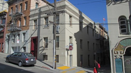 Site of Mary Ellen Pleasant's boarding g house at 920 Washington (now 962), burned down in the Great Fire. Photo: Amy O'Hair