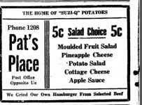 """""""The home of 'Suzi-Q' Potatoes"""" The Chillcothe Constitution Tribune (Chillecothe MO, 2 Feb 1940. Newspapers.com"""