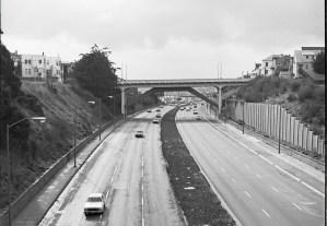1979. Looking south from Highland Bridge toward Richland Bridge, in Bernal Cut, San Francisco. Photo Courtesy SFMTA sfmta.photoshelter.com