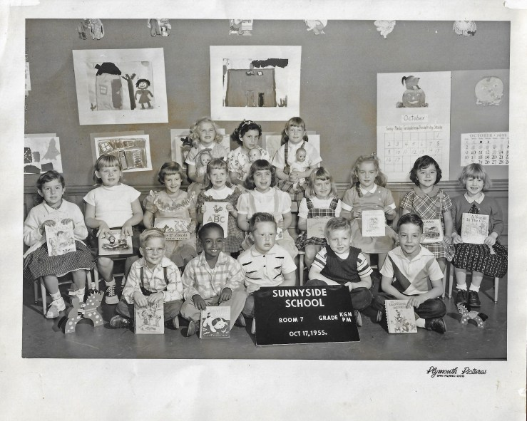 1955. Kindergarten class, Sunnyside School, San Francisco. Photo courtesy Jeanne Molinare Malarky.