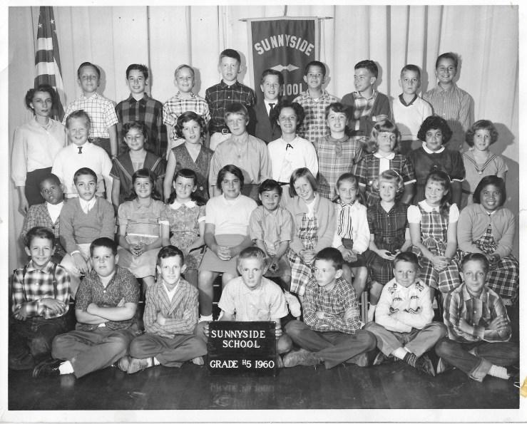 1960. Fifth grade class, Sunnyside School, San Francisco. Photo courtesy Jeanne Molinare Malarky.