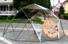 Dome built outside The Bridge art center