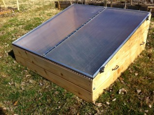 Closed Cedar Cold Frame