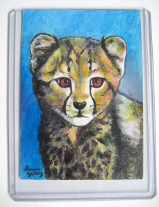 cheetah cub art print