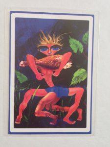 Mantis Man painting ACEO art card