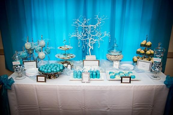 Tiffany Blue Dessert Table  Sunny Side Sweet Shop