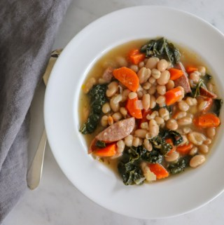 White Bean Sausage and Kale Soup