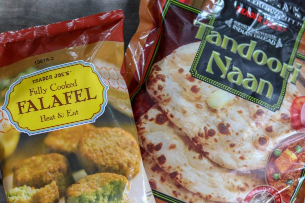 Trader Joe's Falafel and Naan