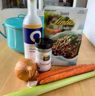 Ingredients for 15 Minute Lentil Ragout