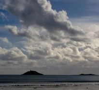 Clouds over Ballycotton Island warn of worsening weather to come