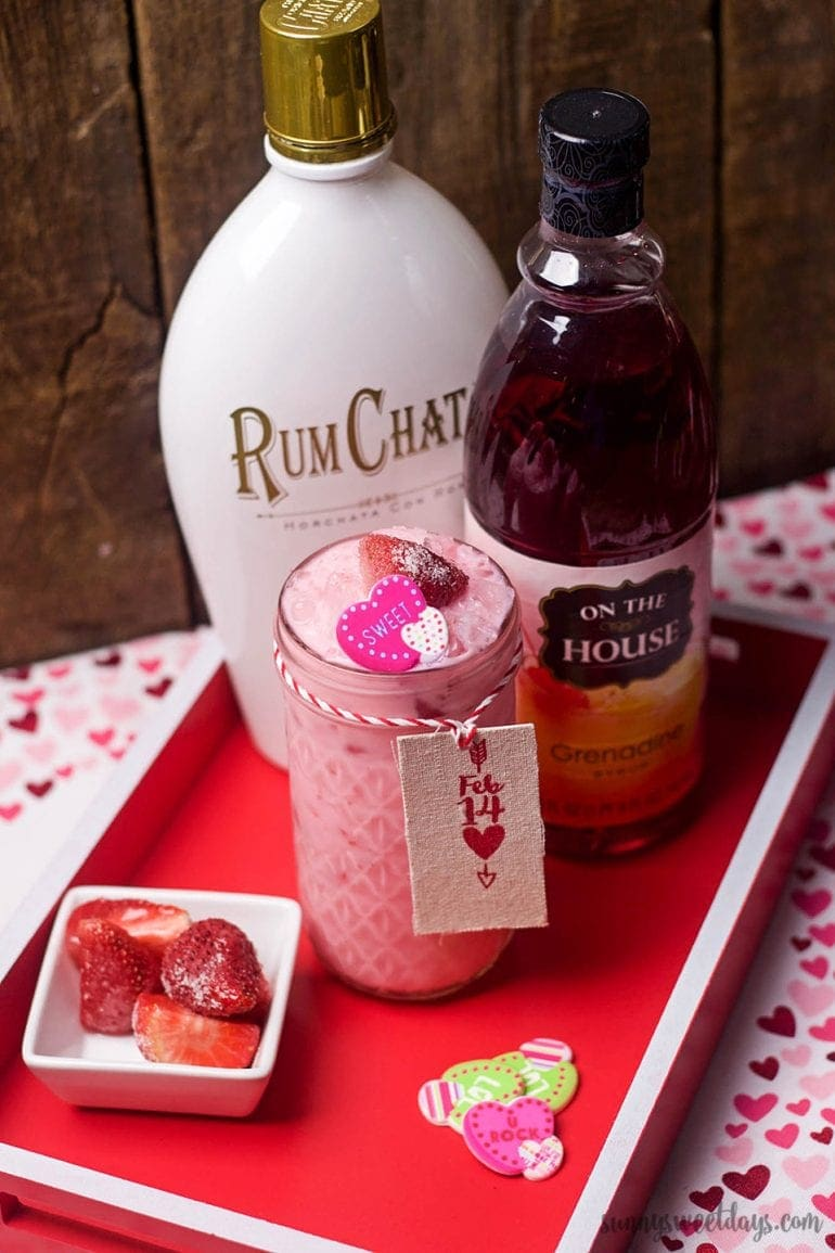Valentines Day RumChata Cocktail Recipe Sunny Sweet Days