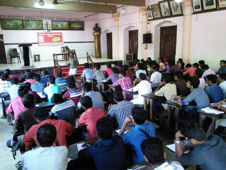English classes for Federal Bank Job recruits, organised by FBEU