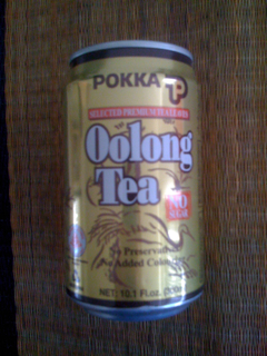 Can of Pokka Oolong Tea