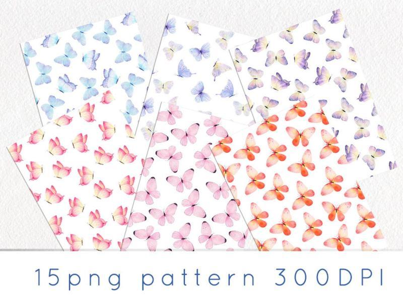 watercolor-butterfly-pattern