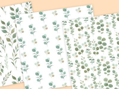 greenery-digital-paper