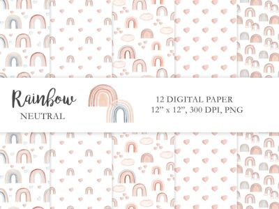 neutral-rainbow-digital-paper