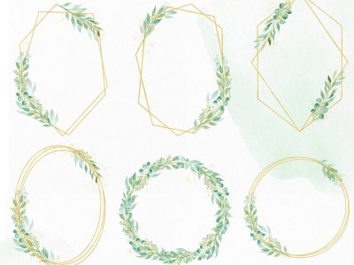greenery-geometric-frame