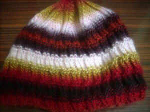 The right side: reversible hat