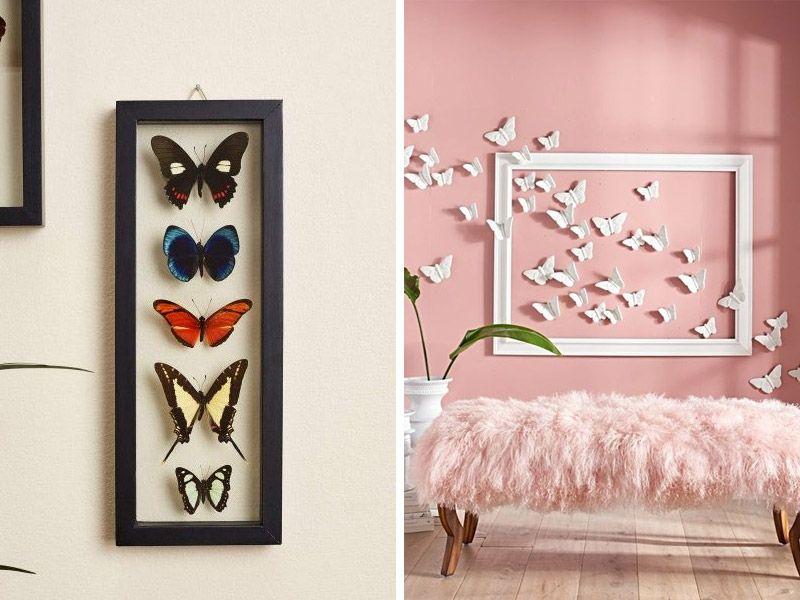 Koostumukset perhoseista seinään