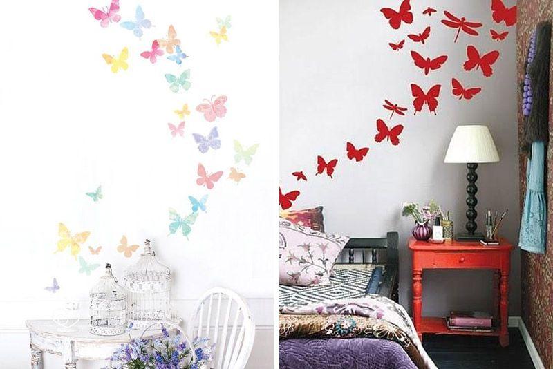 Perhoset seinällä: Kuva sisätiloissa