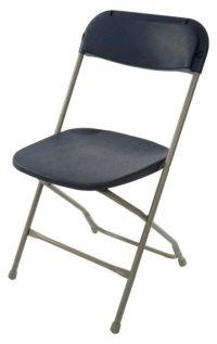 Samsonite Folding Chair  Slate Gray/Blue  Sun Rental Center