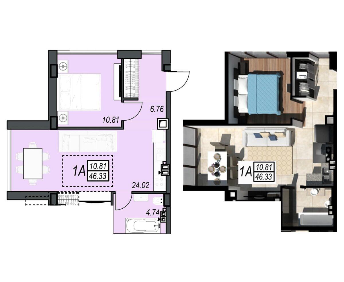 Планировка квартиры: 141