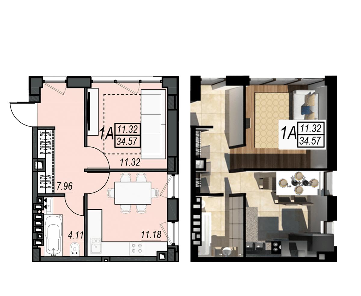 Планировка квартиры: 190