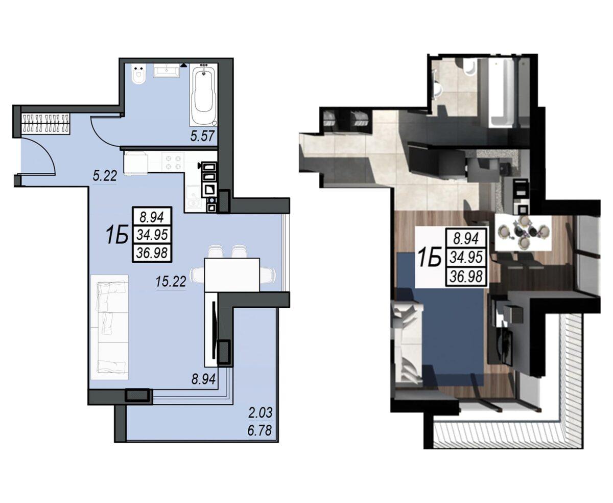 Планировка квартиры: 186