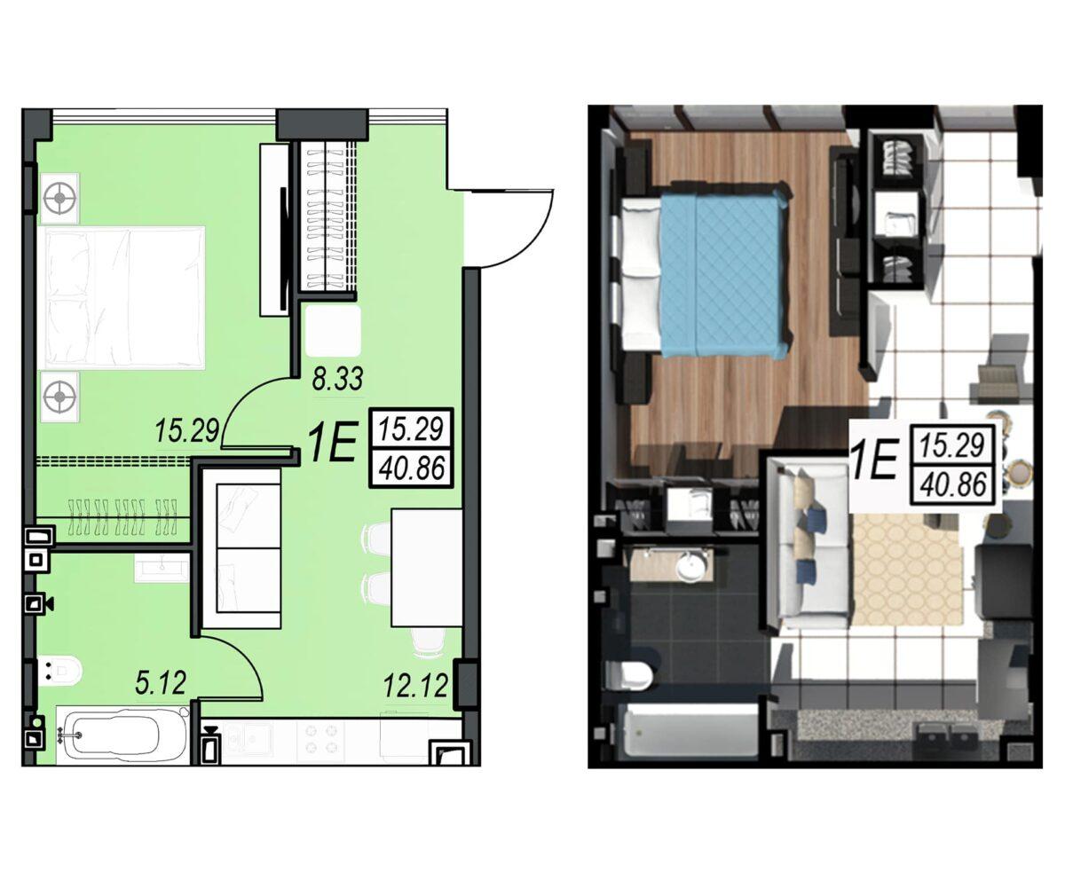 Планировка квартиры: 122