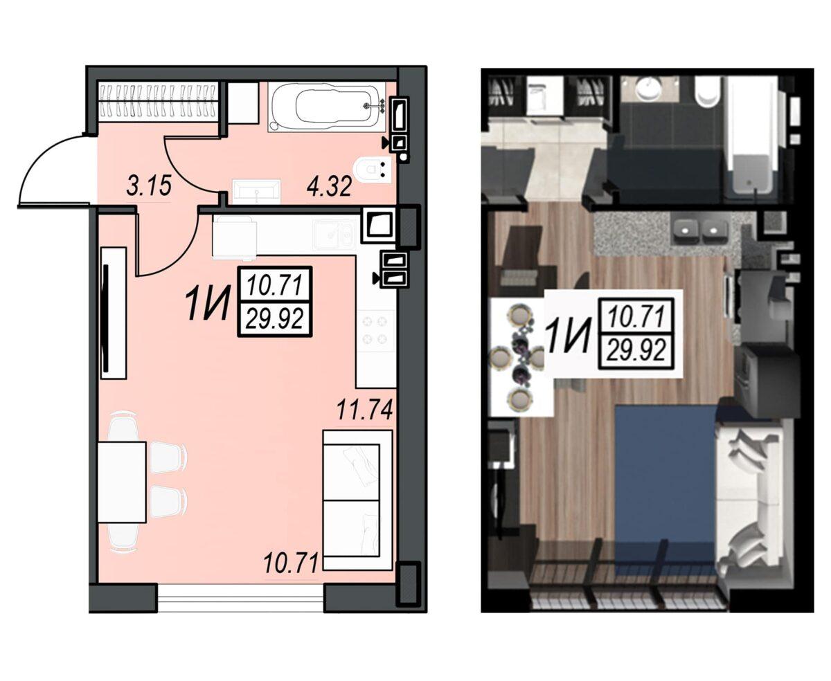 Планировка квартиры: 28