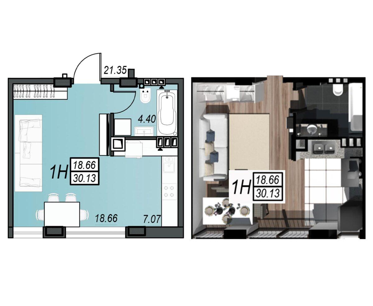 Планировка квартиры: 224