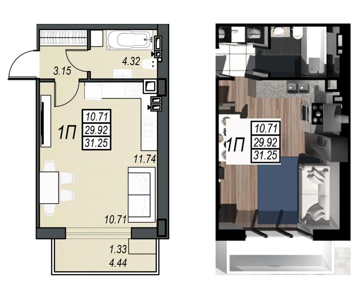 Планировка квартиры: 162