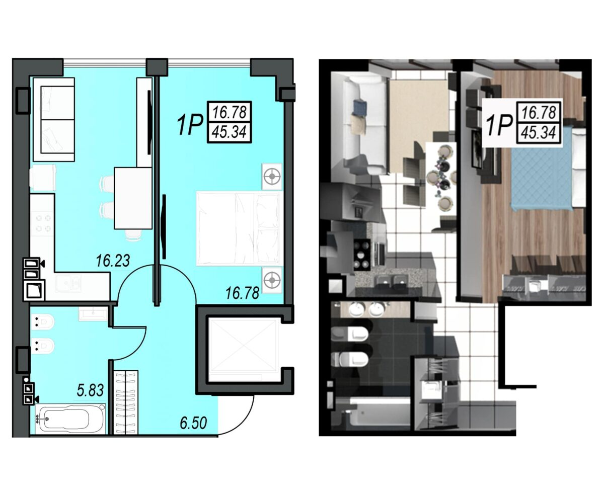 Планировка квартиры: 107