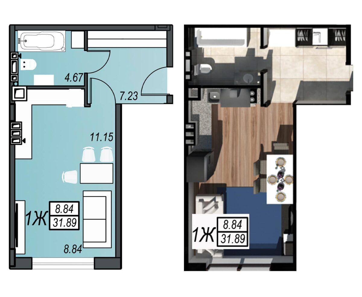 Планировка квартиры: 131