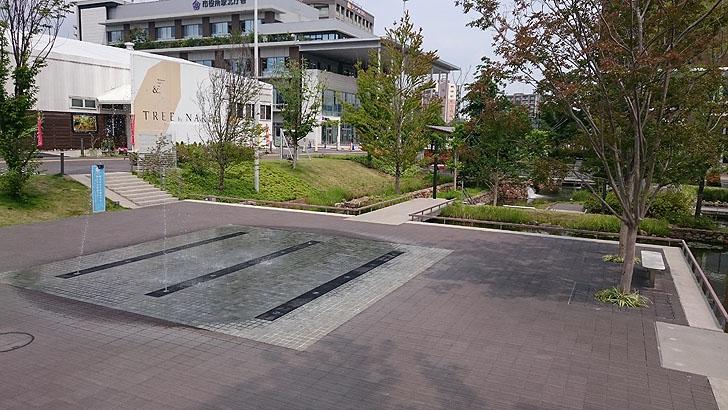 虎渓用水広場の噴水