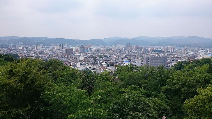 虎渓公園から眺める多治見市街