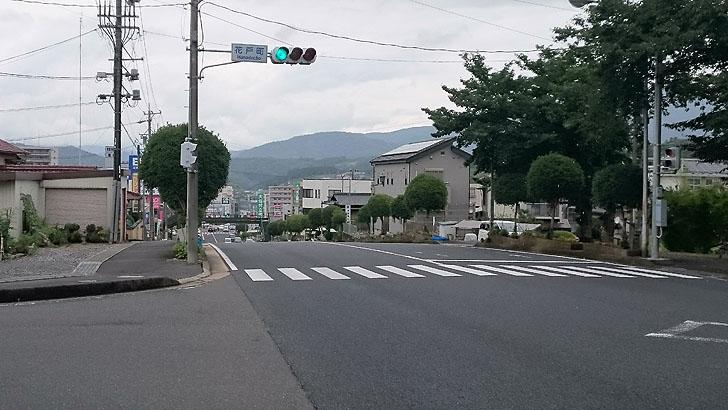花戸町交差点北の信号