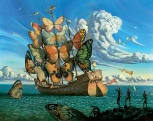 Departure of the Winged Ship - Vladimir Kush