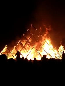 Temple Burn at Burning Man 2013