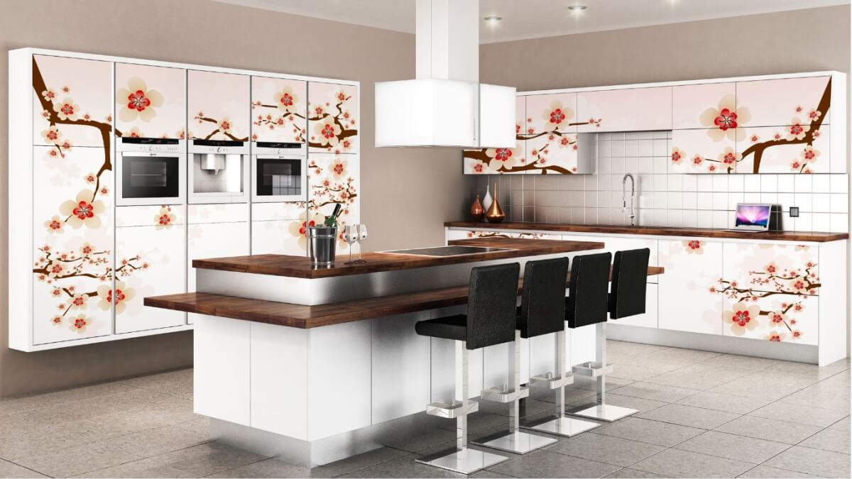 kitchen laminate cabinets online design floral shutter for ypur dream kitchens by sunrise l shaped