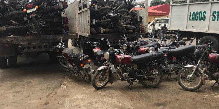 Mass Arrest of Motorcycles in Lagos