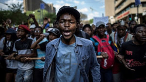 protest by South Africans