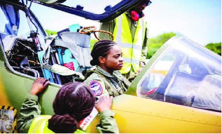 Breaking: Air force unveils Nigeria's first female fighter pilot