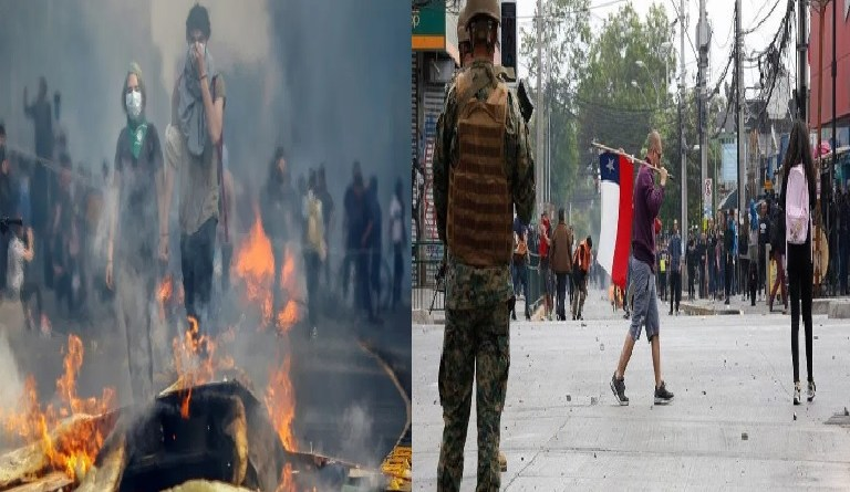 Fire kills 8 as Chile protests against hikes in metro fares